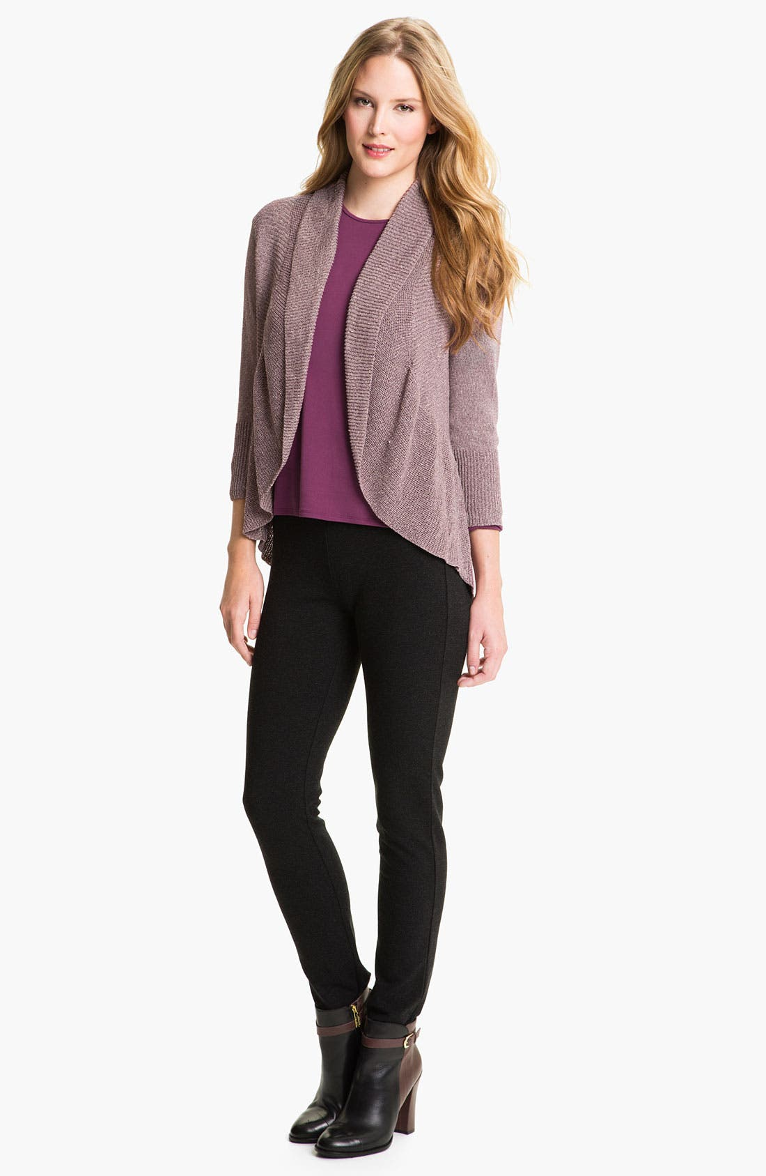 Alternate Image 4  - Eileen Fisher Ribbed Ruffle Cardigan