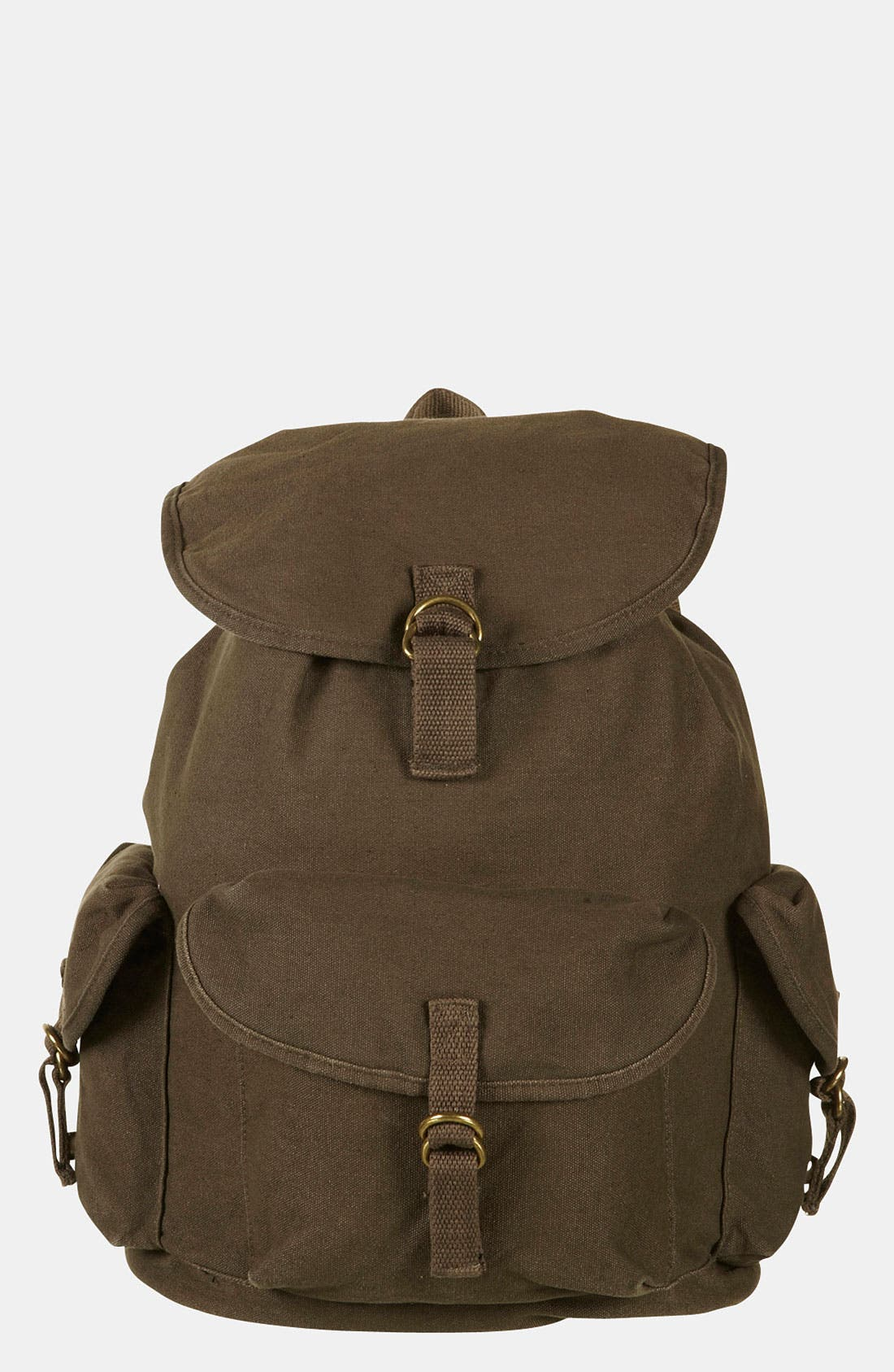 Alternate Image 2  - Topshop Washed Military Backpack