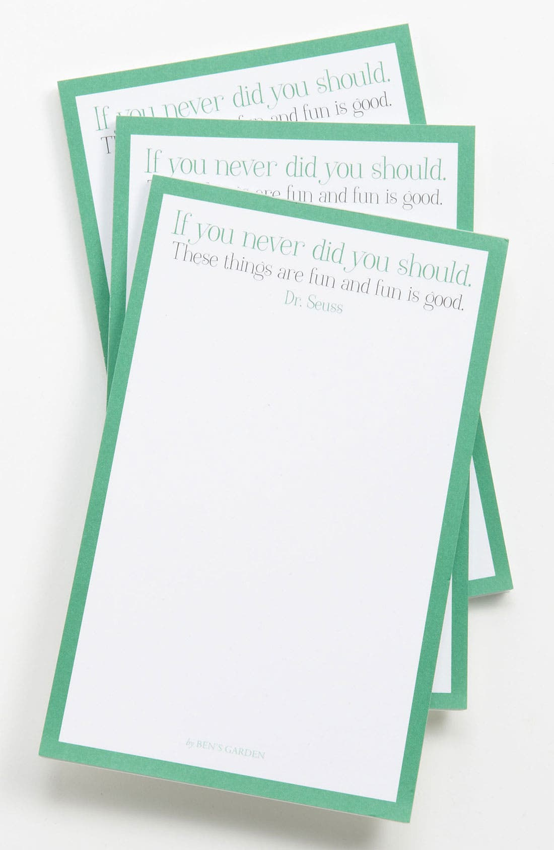 Alternate Image 1 Selected - Ben's Garden 'Fun Is Good' Notepads (3-Pack)