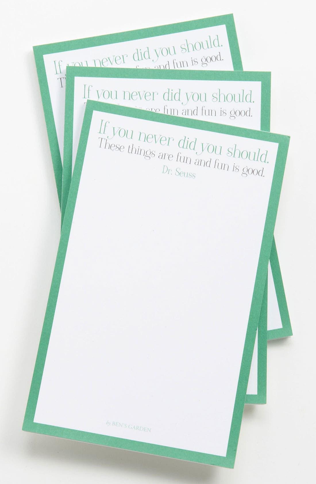 Main Image - Ben's Garden 'Fun Is Good' Notepads (3-Pack)