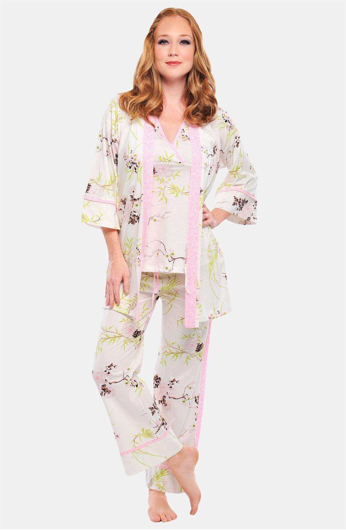 Main Image - Olian 'Anne' 4-Piece Maternity Sleepwear Gift Set