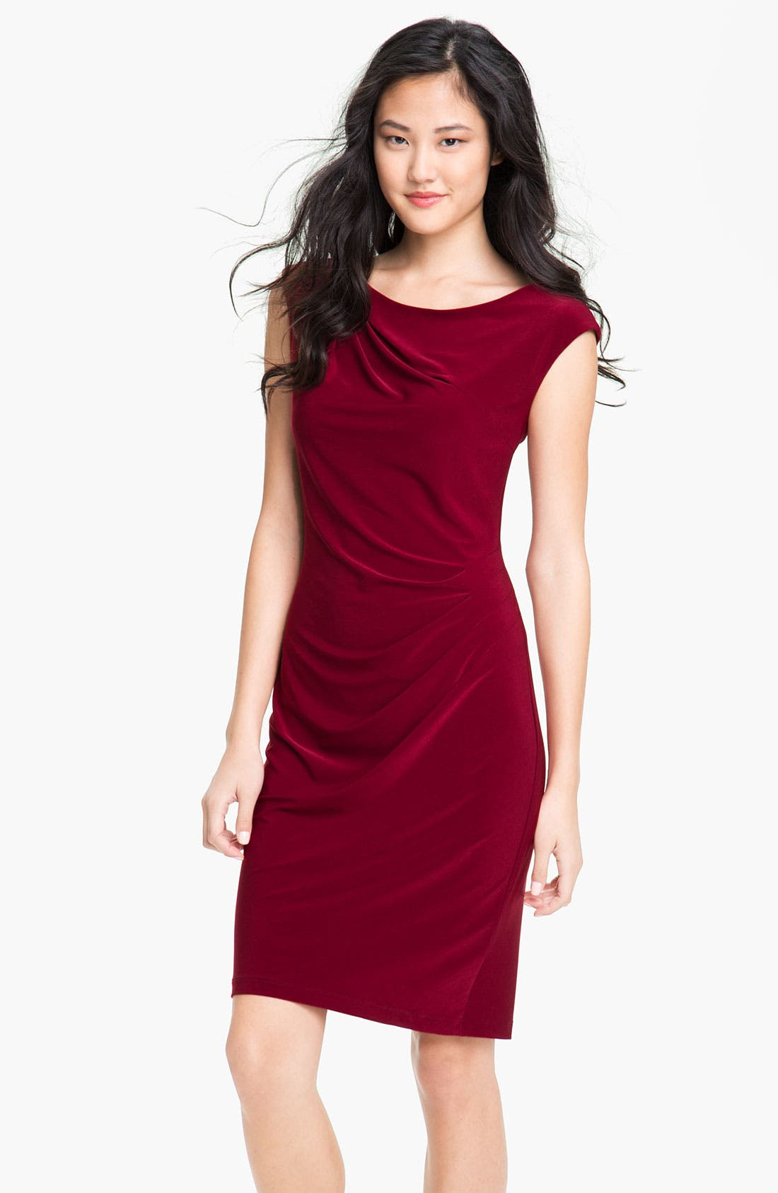 Alternate Image 1 Selected - Alex & Ava Cap Sleeve Jersey Sheath Dress