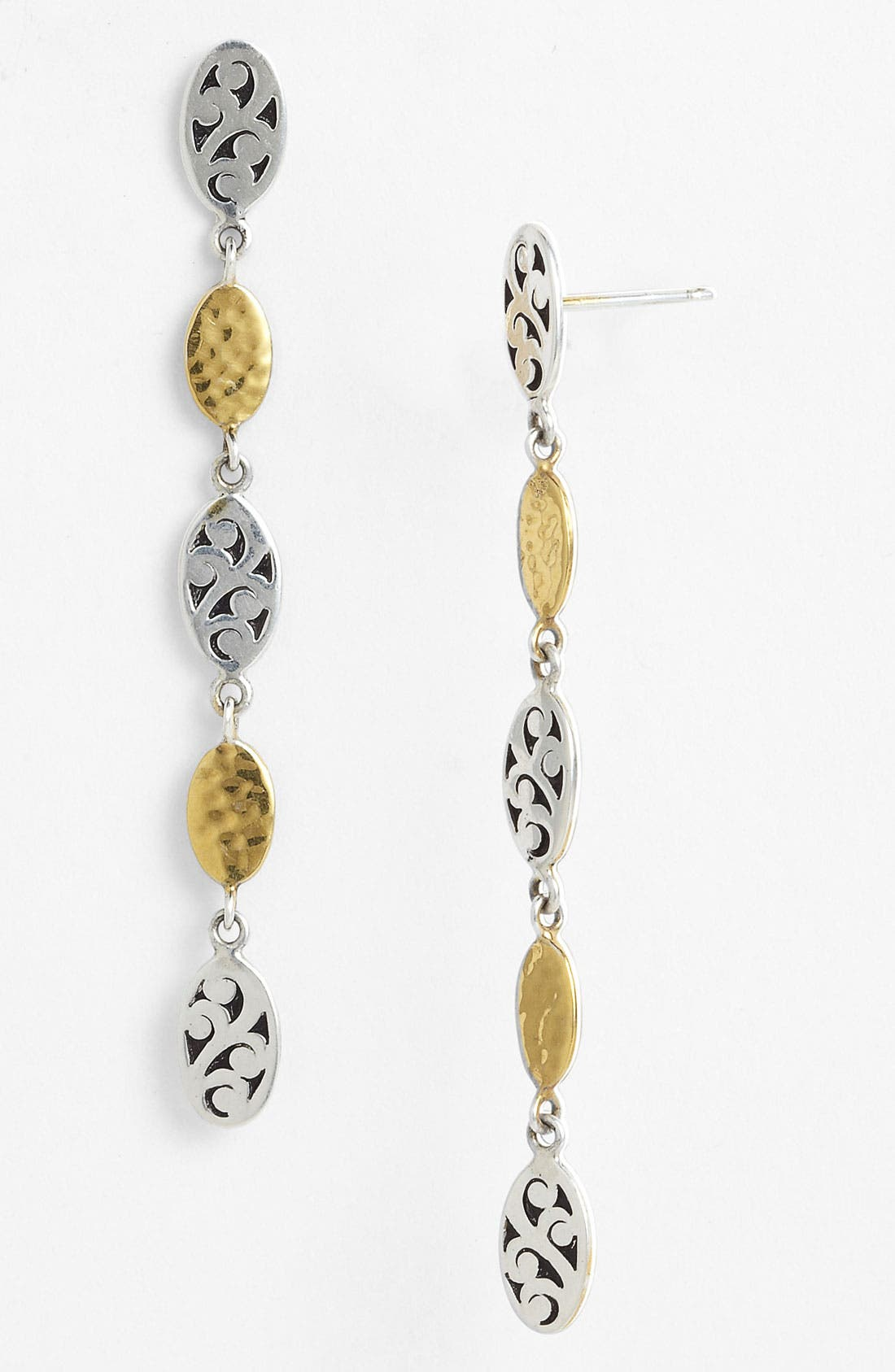 Alternate Image 1 Selected - Lois Hill 'Marquise' Long Oval Drop Earrings
