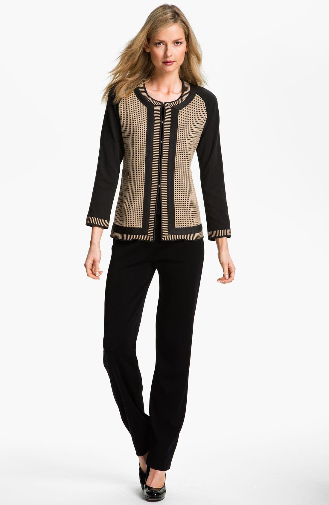 Alternate Image 4  - Exclusively Misook Grid Pattern Jacket