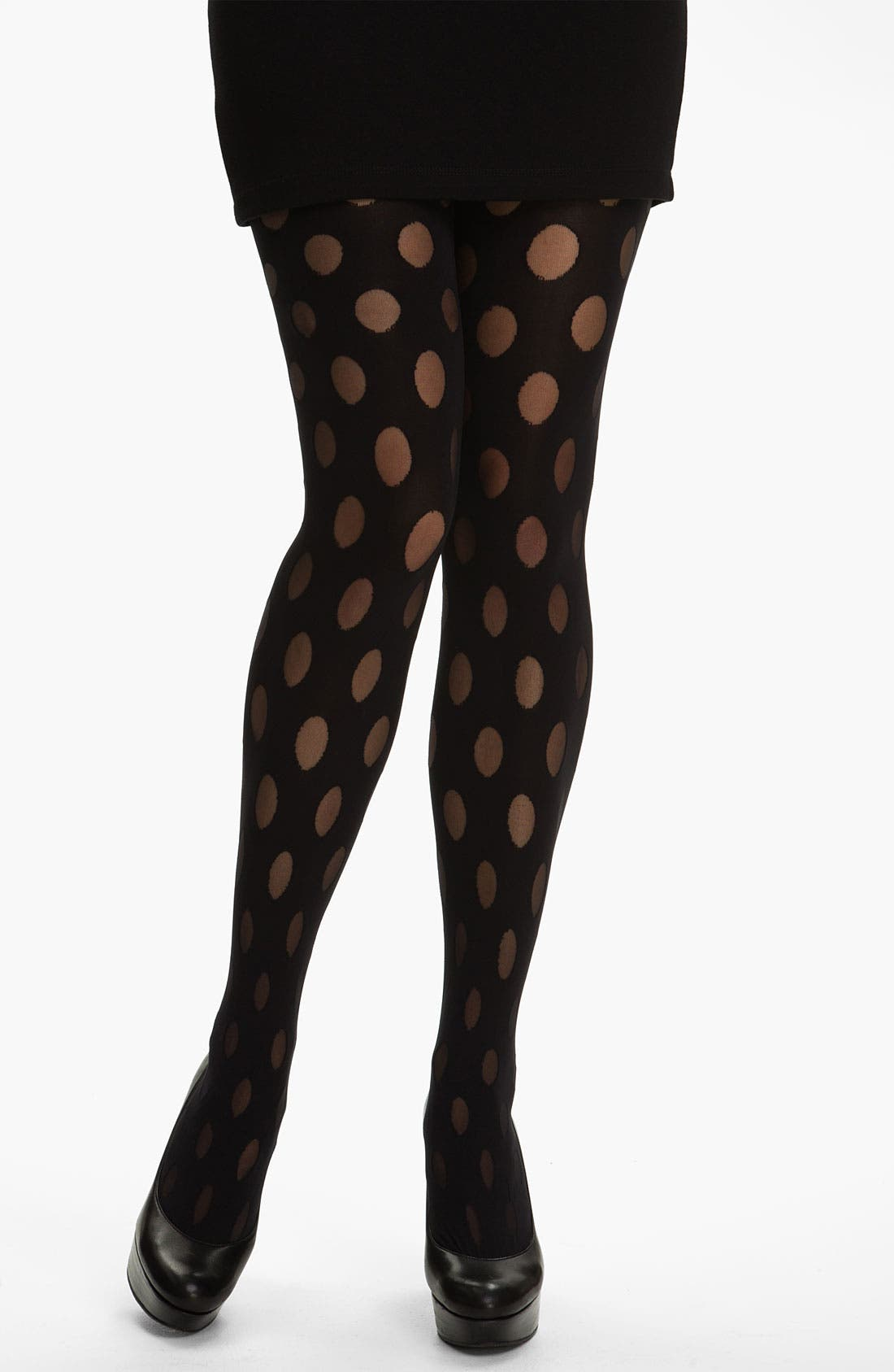 Alternate Image 1 Selected - Pretty Polly 'House of Holland Reverse Polka Dot' Tights