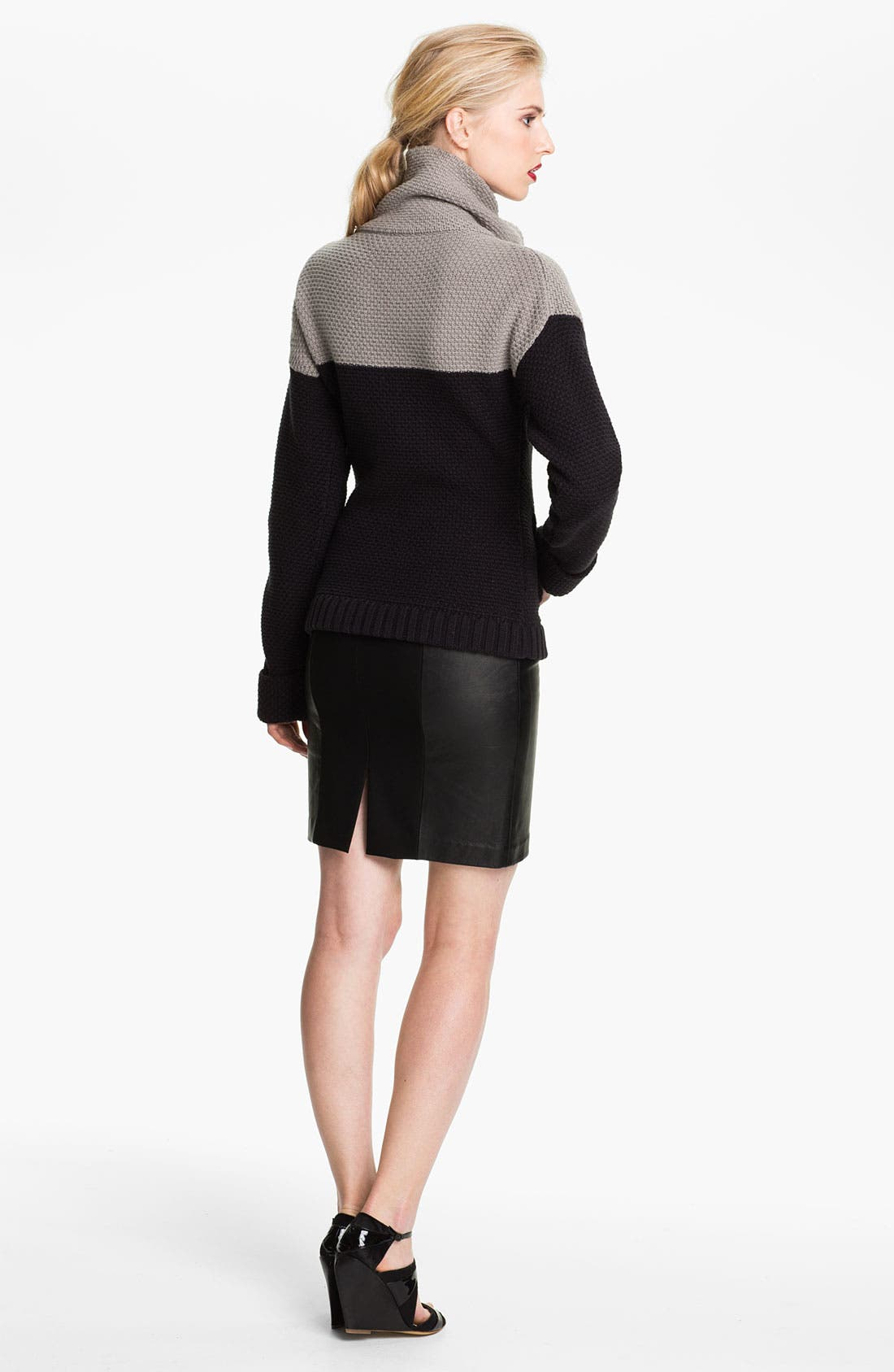 Alternate Image 2  - Tracy Reese Colorblock Chunky Knit Jacket