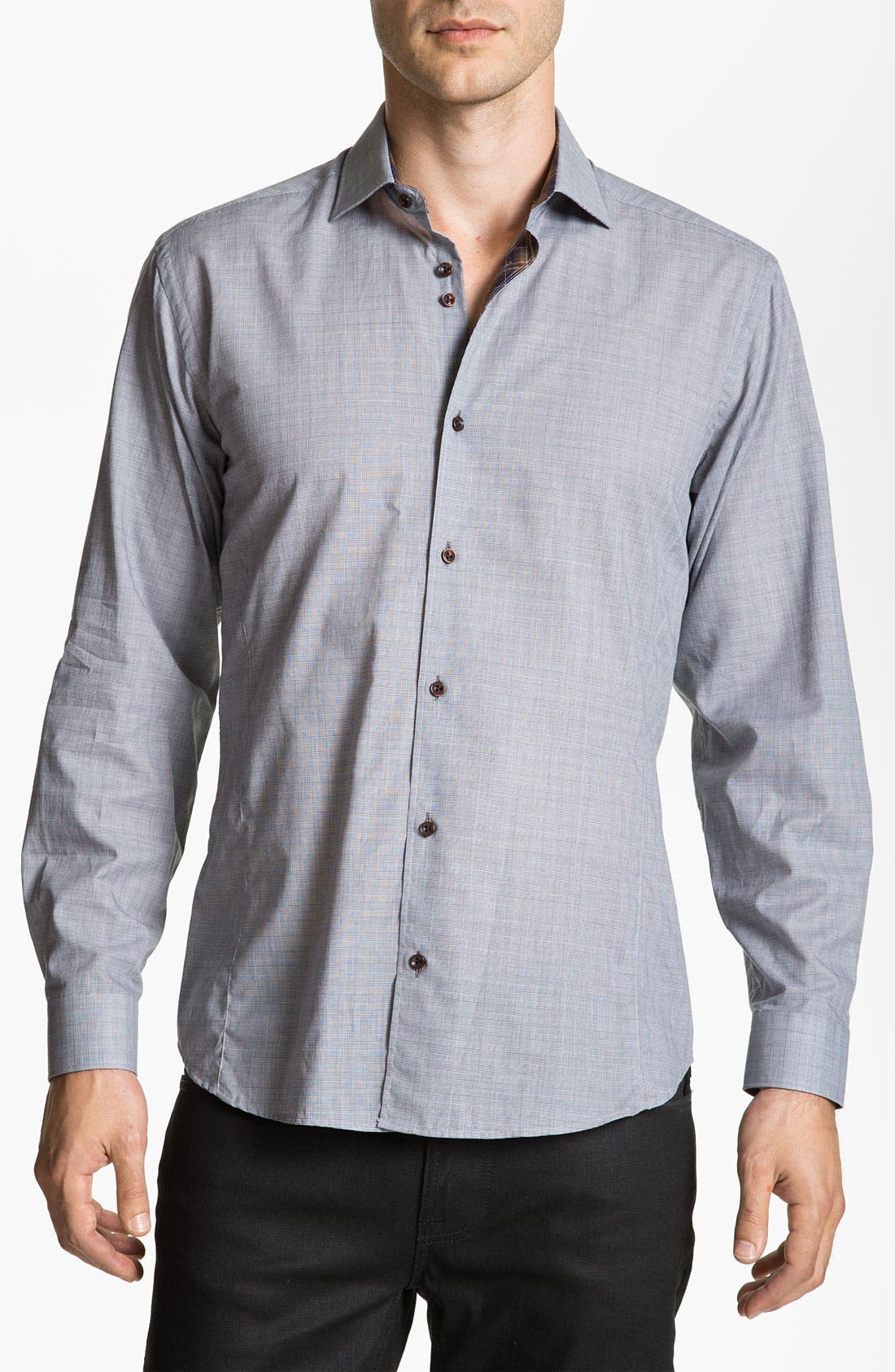 Alternate Image 1 Selected - Stone Rose Check Woven Shirt