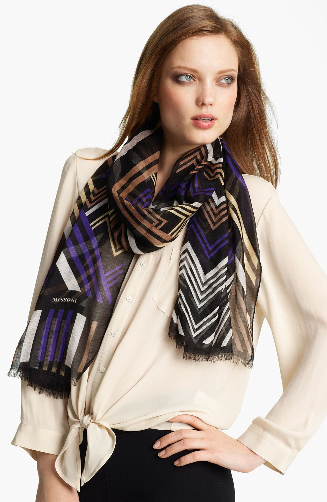 Alternate Image 1 Selected - Missoni 'Big Zag' Modal & Cashmere Scarf