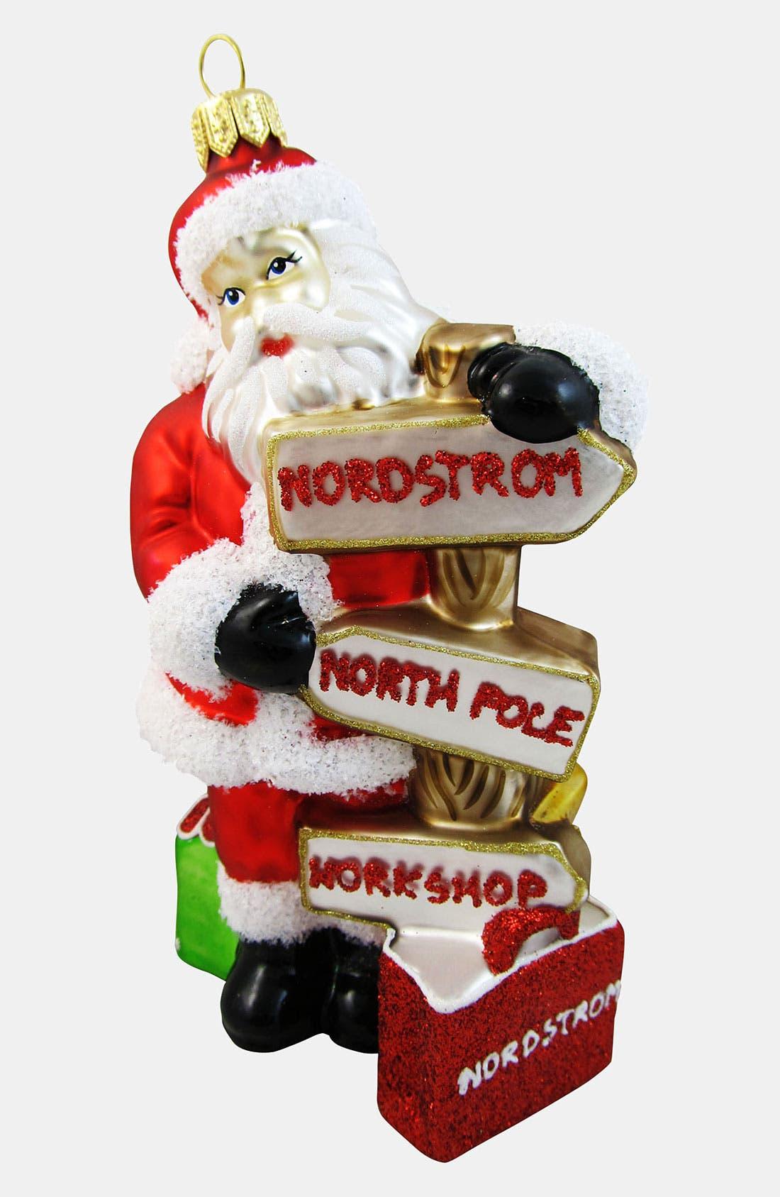 Main Image - Nordstrom at Home 'Santa Sign Post' Ornament