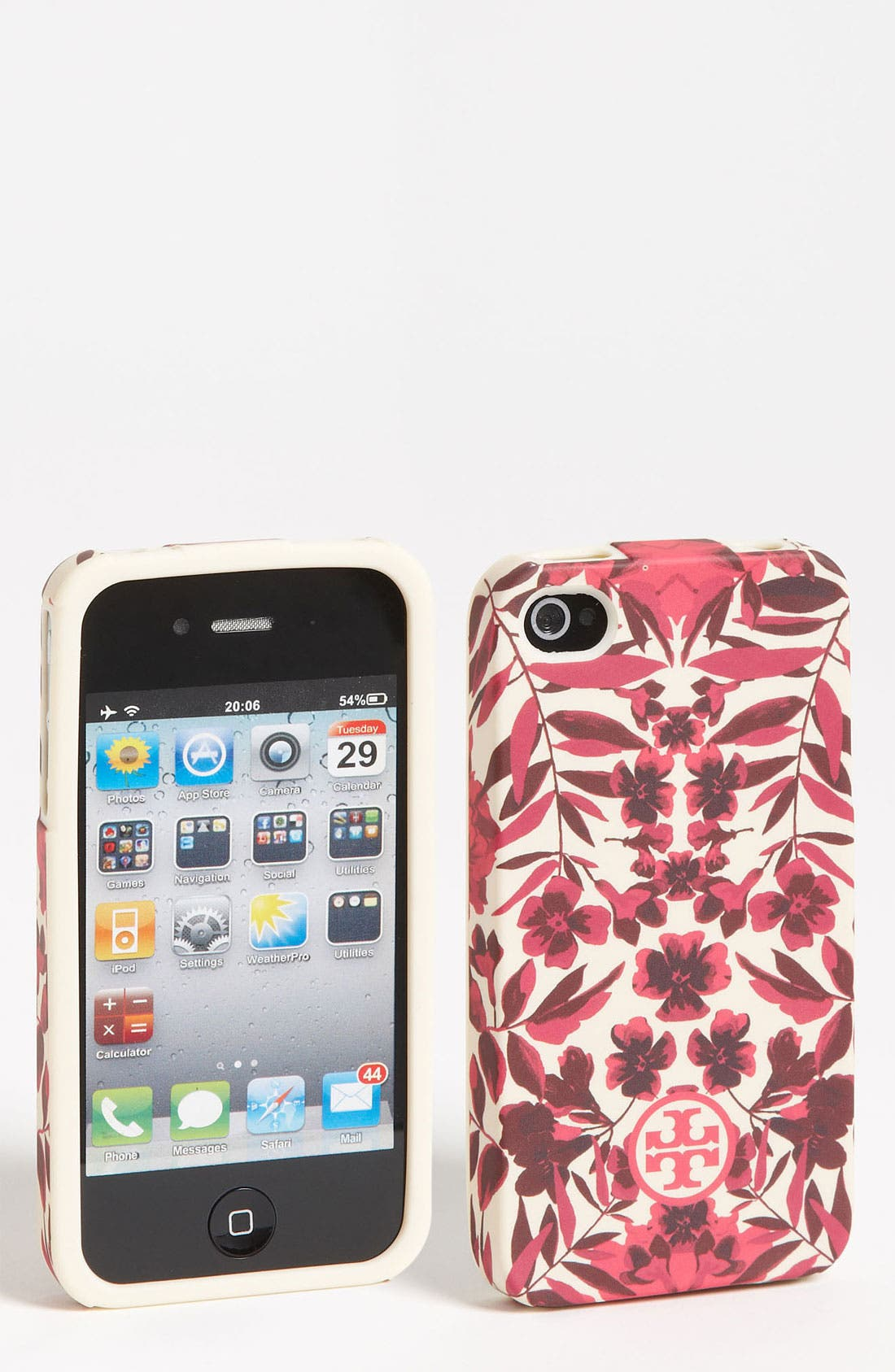 Alternate Image 1 Selected - Tory Burch 'Garnet' Soft iPhone 4 & 4S Case