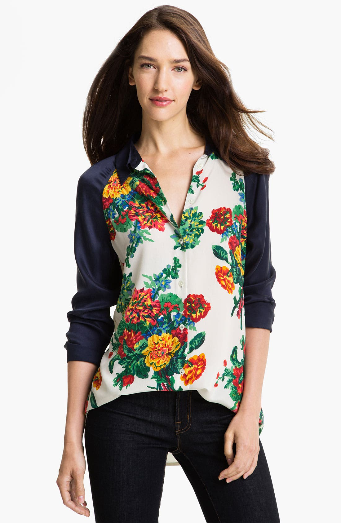 Main Image - Equipment 'Venetian Bouquet' Silk Blouse (Online Exclusive)