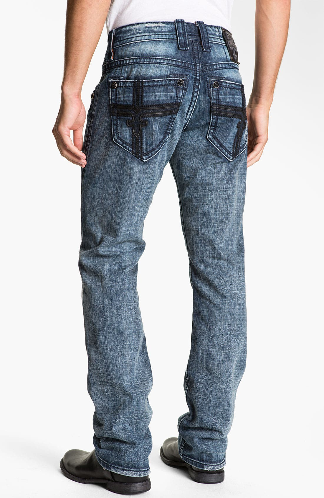 Alternate Image 1 Selected - Rock Revival 'Larry Alternative' Straight Leg Jeans (Medium Blue)