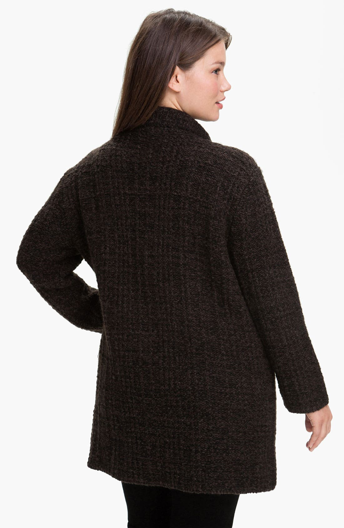 Alternate Image 2  - Eileen Fisher 'Eco Pebble Plaid' Jacket (Plus)