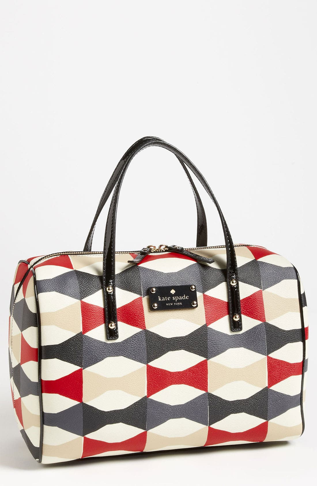 Main Image - kate spade new york 'abstract signature bow - shawna' satchel