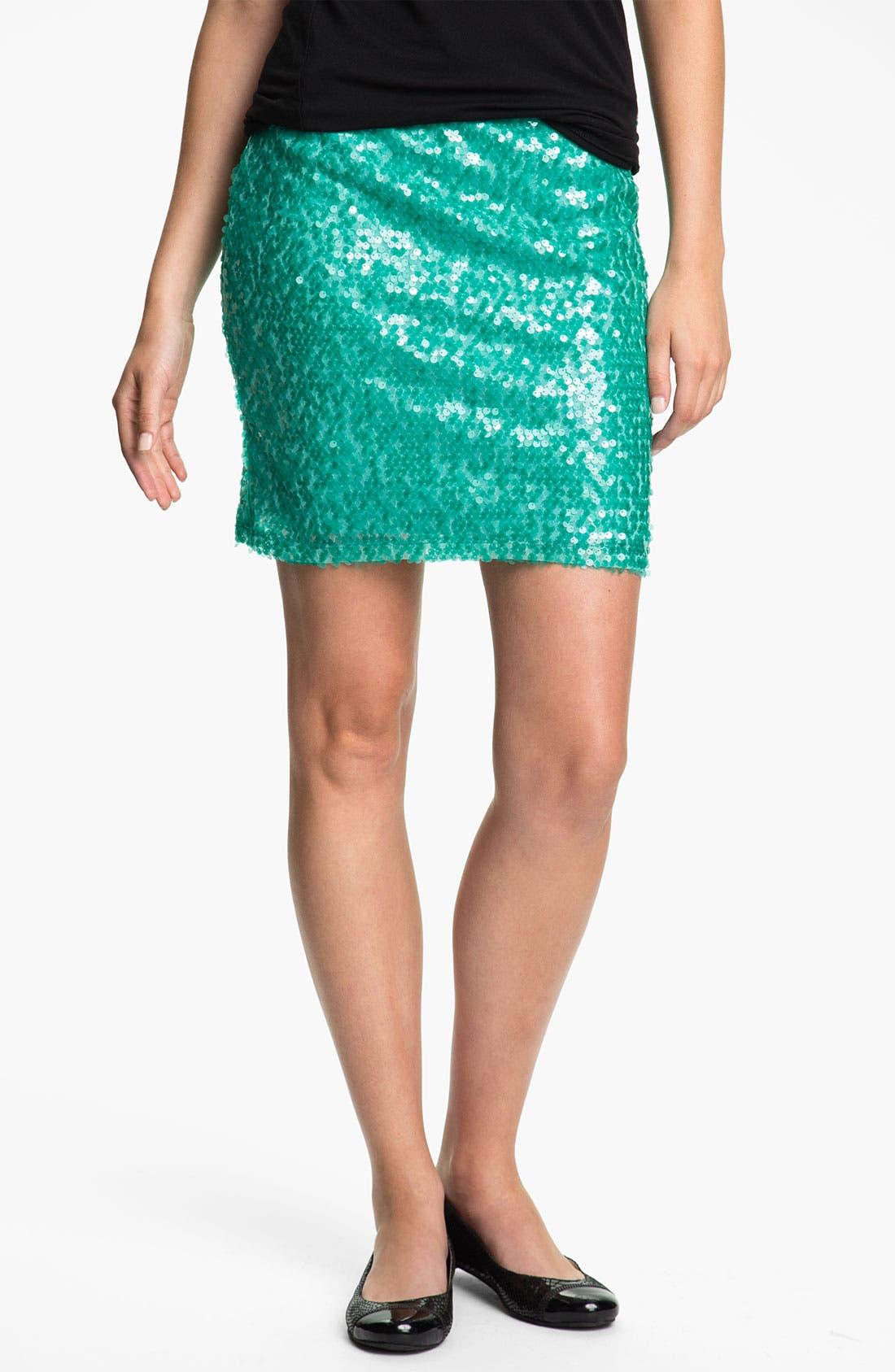 Main Image - Mimi Chica Sequin Skirt (Juniors)