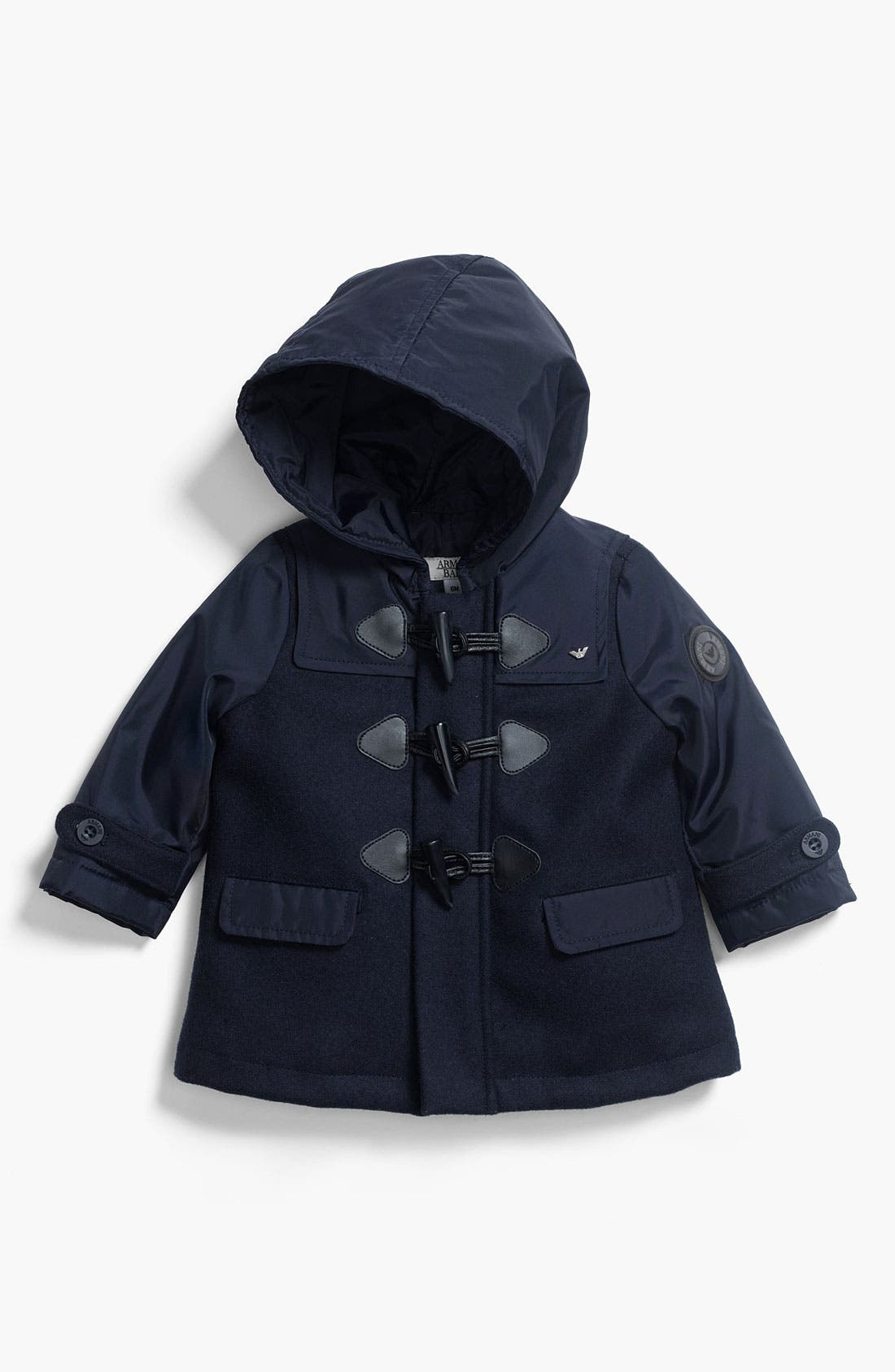 Main Image - Armani Junior Toggle Coat (Infant)