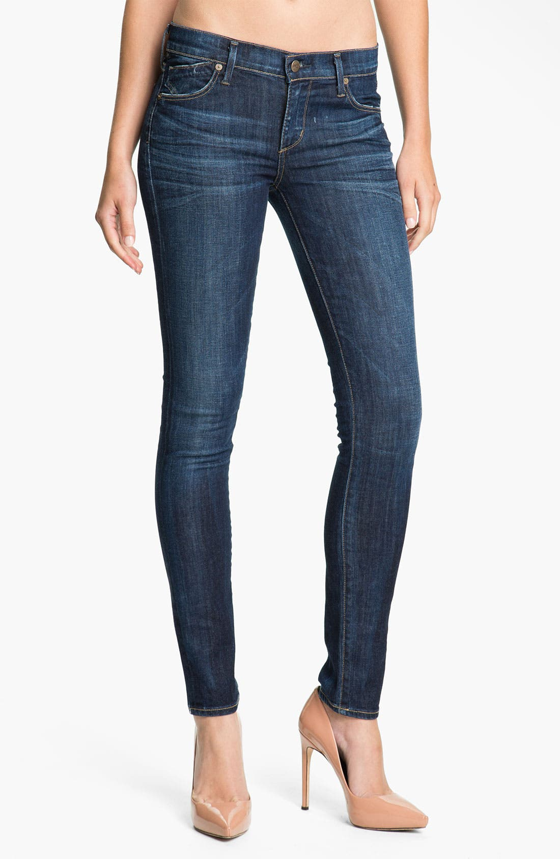 Alternate Image 1  - Citizens of Humanity Skinny Stretch Jeans (Spectrum)