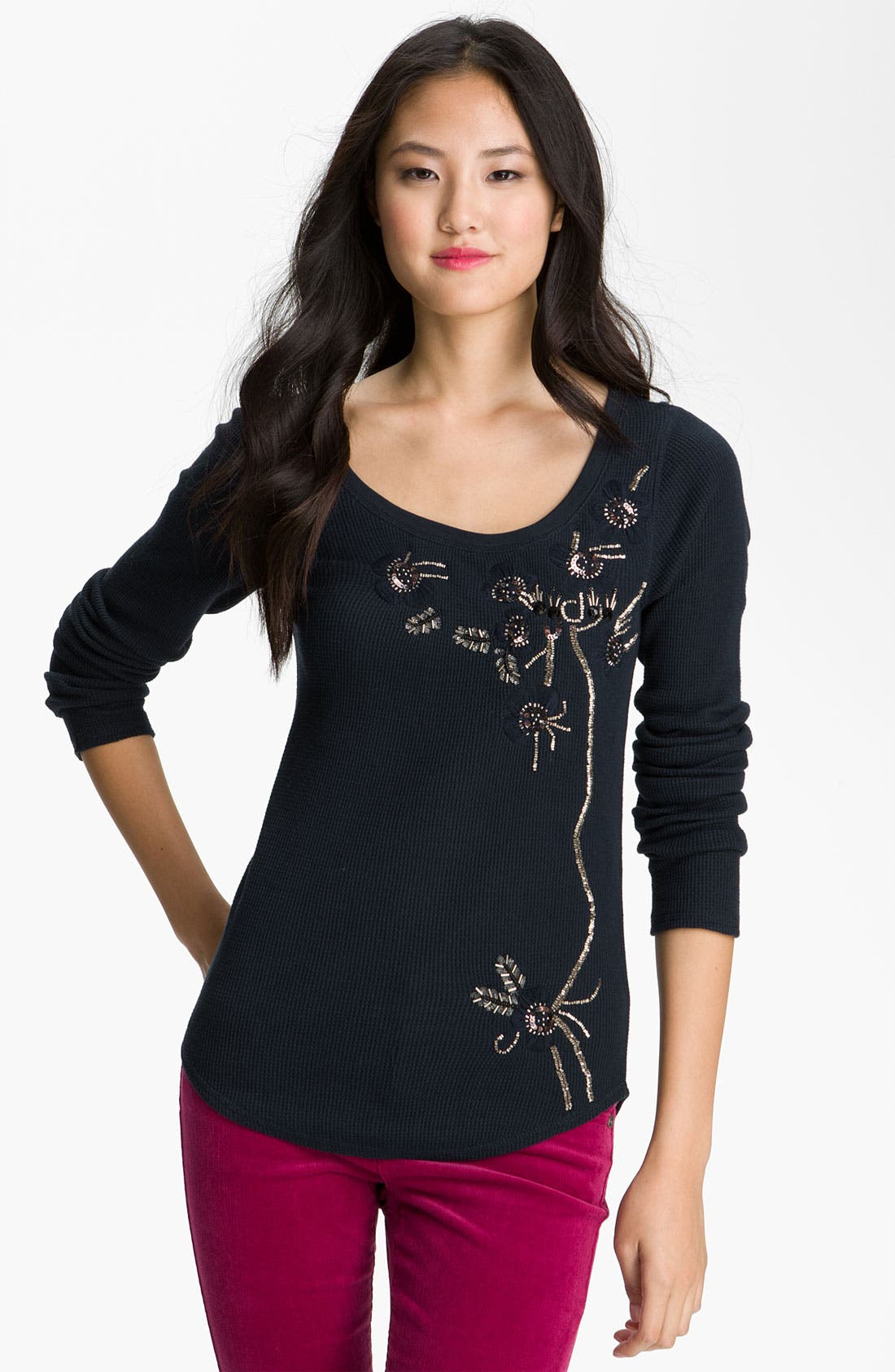 Alternate Image 1 Selected - Lucky Brand 'Misty Vine' Thermal Top