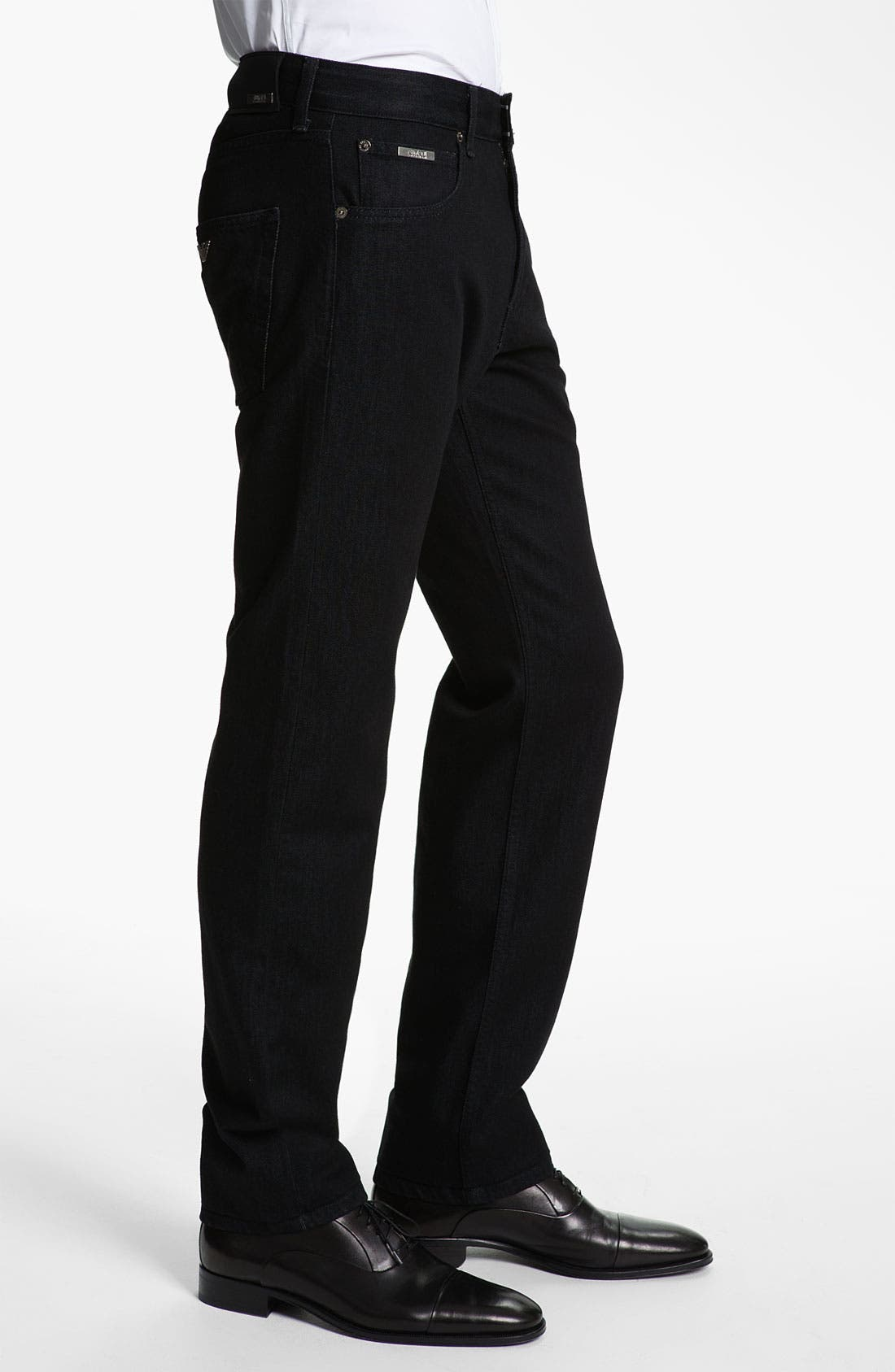 Alternate Image 3  - Armani Collezioni Straight Leg Jeans (Black Wash)