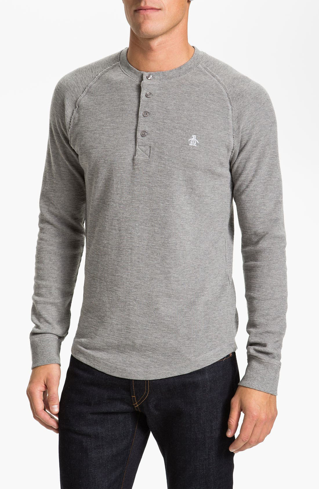 Main Image - Original Penguin Thermal Cotton Henley