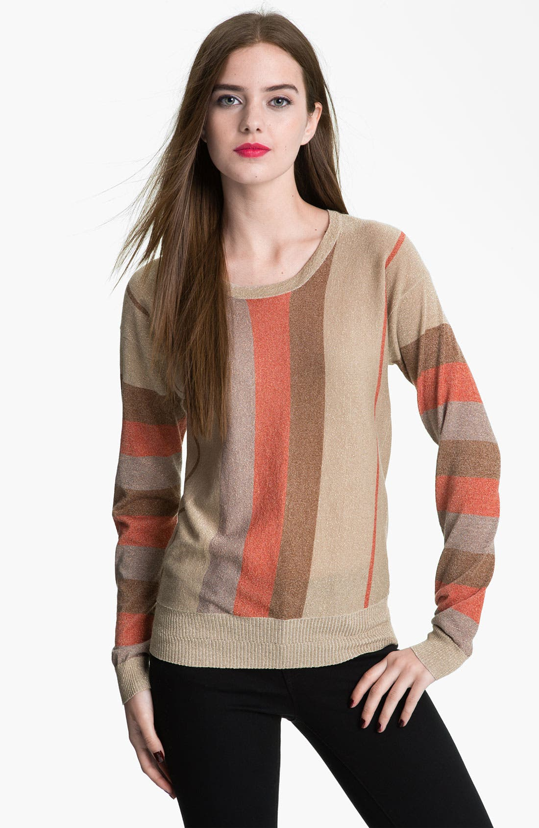 Alternate Image 1 Selected - MARC BY MARC JACOBS 'Lisa' Metallic Stripe Sweater
