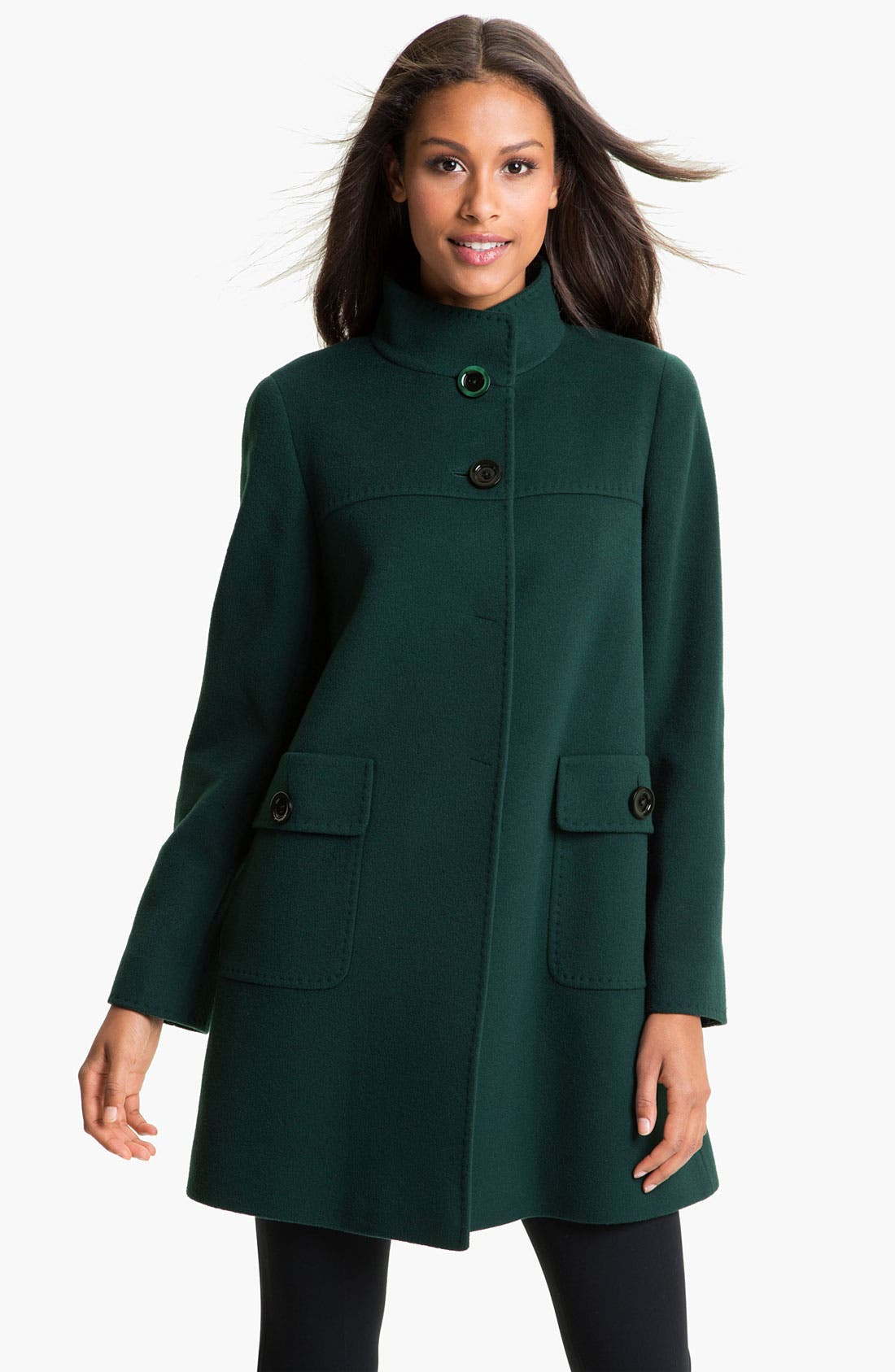 Alternate Image 1 Selected - Cinzia Rocca A-Line Wool Blend Coat