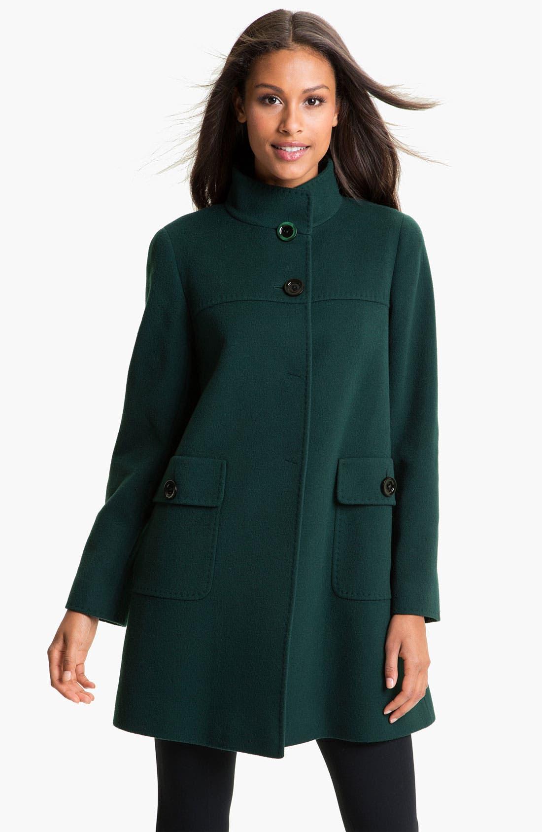 Main Image - Cinzia Rocca A-Line Wool Blend Coat
