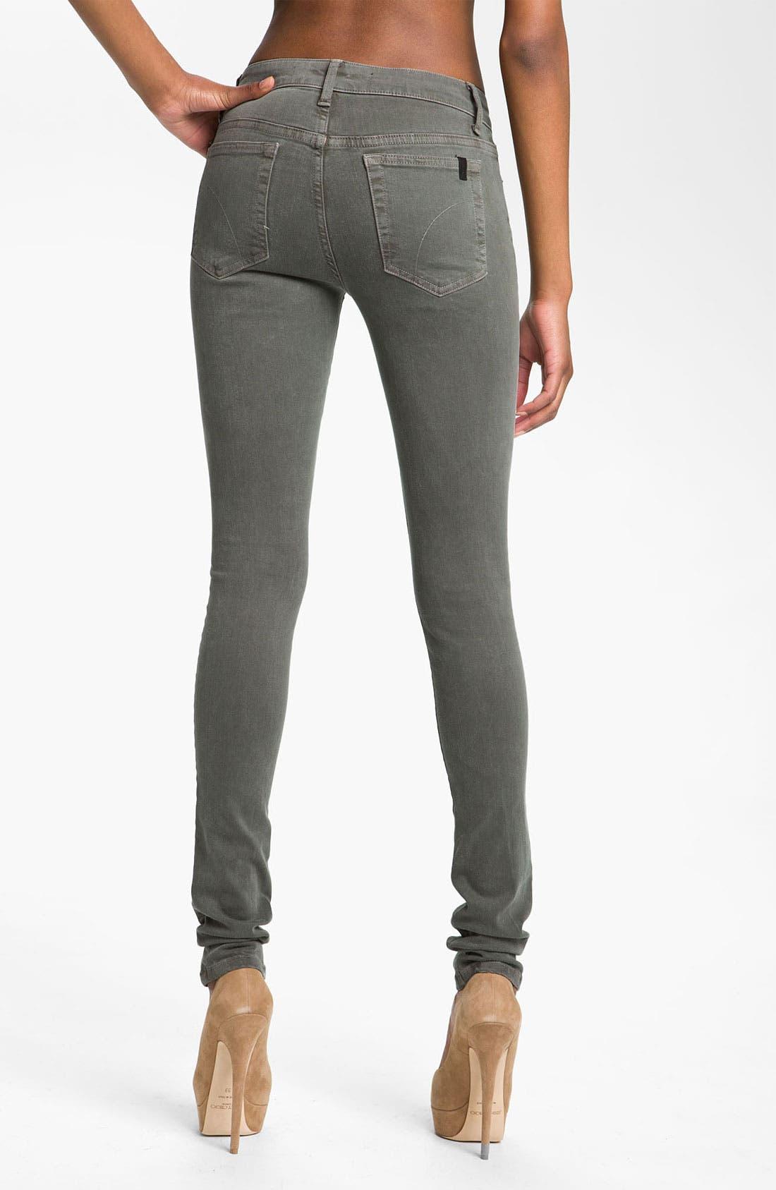 Alternate Image 2  - Joe's Skinny Stretch Denim Jeans (Bay Leaf)