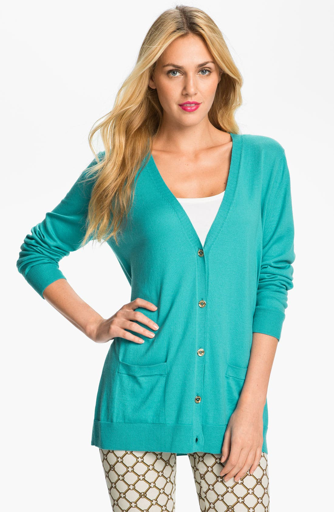 Alternate Image 1 Selected - MICHAEL Michael Kors Boyfriend Cardigan