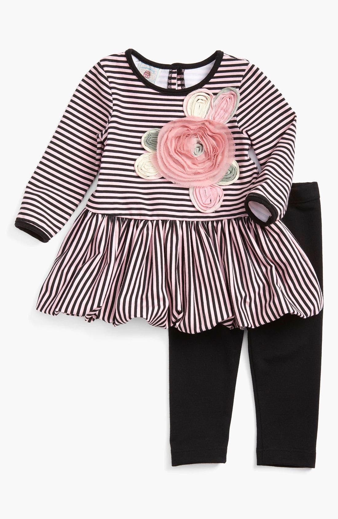 Main Image - Pippa & Julie Dress & Leggings (Infant)