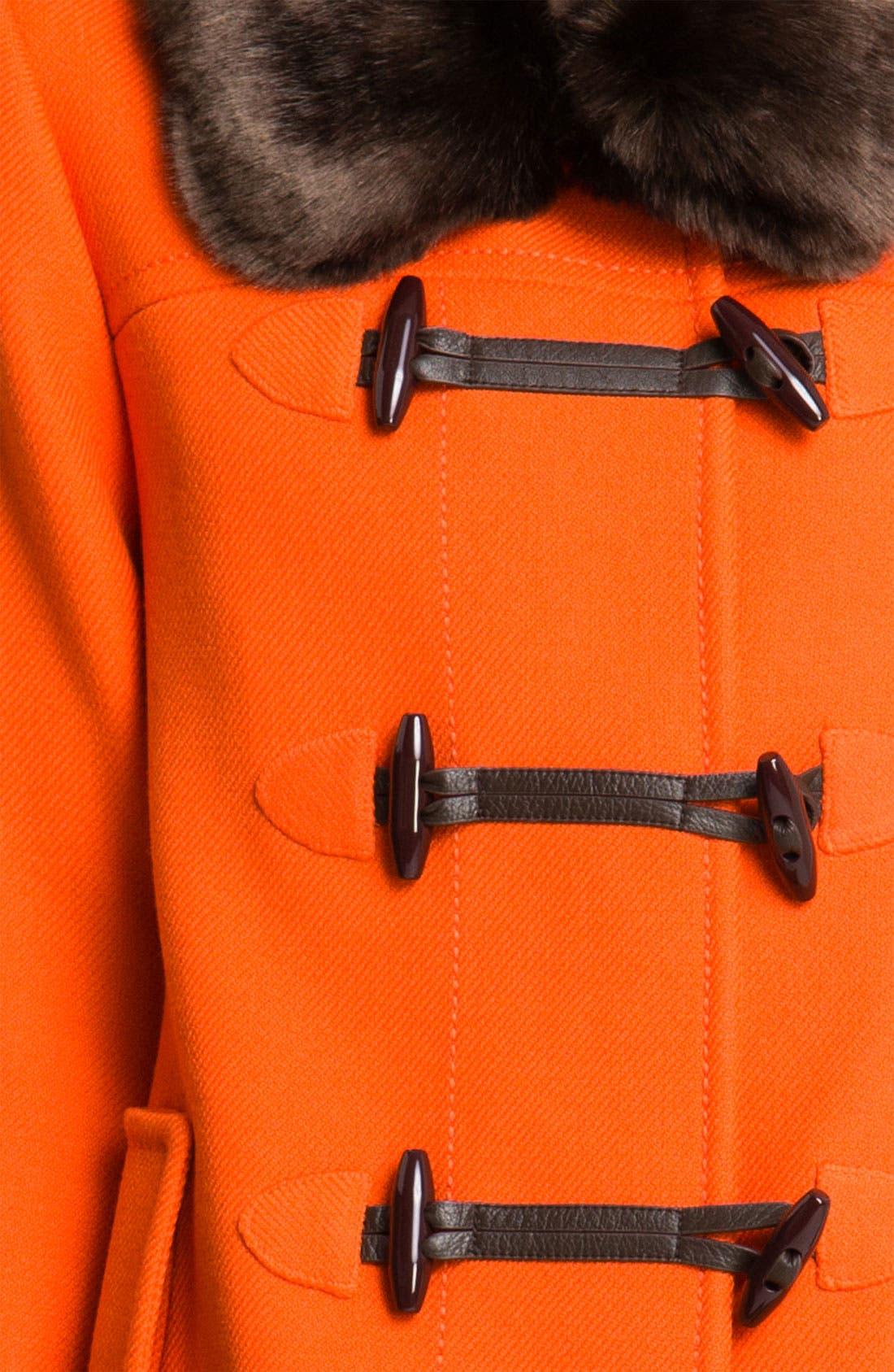 Alternate Image 3  - kate spade new york 'allie' faux fur & wool coat