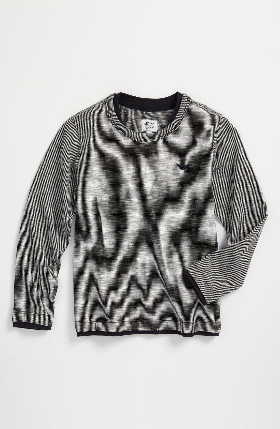 Main Image - Armani Junior Long Sleeve T-Shirt (Big Boys)