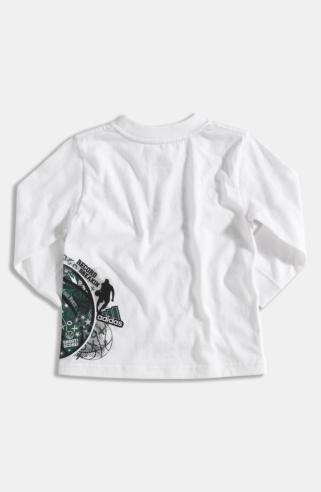 Alternate Image 2  - adidas 'Playbook' T-Shirt (Toddler)