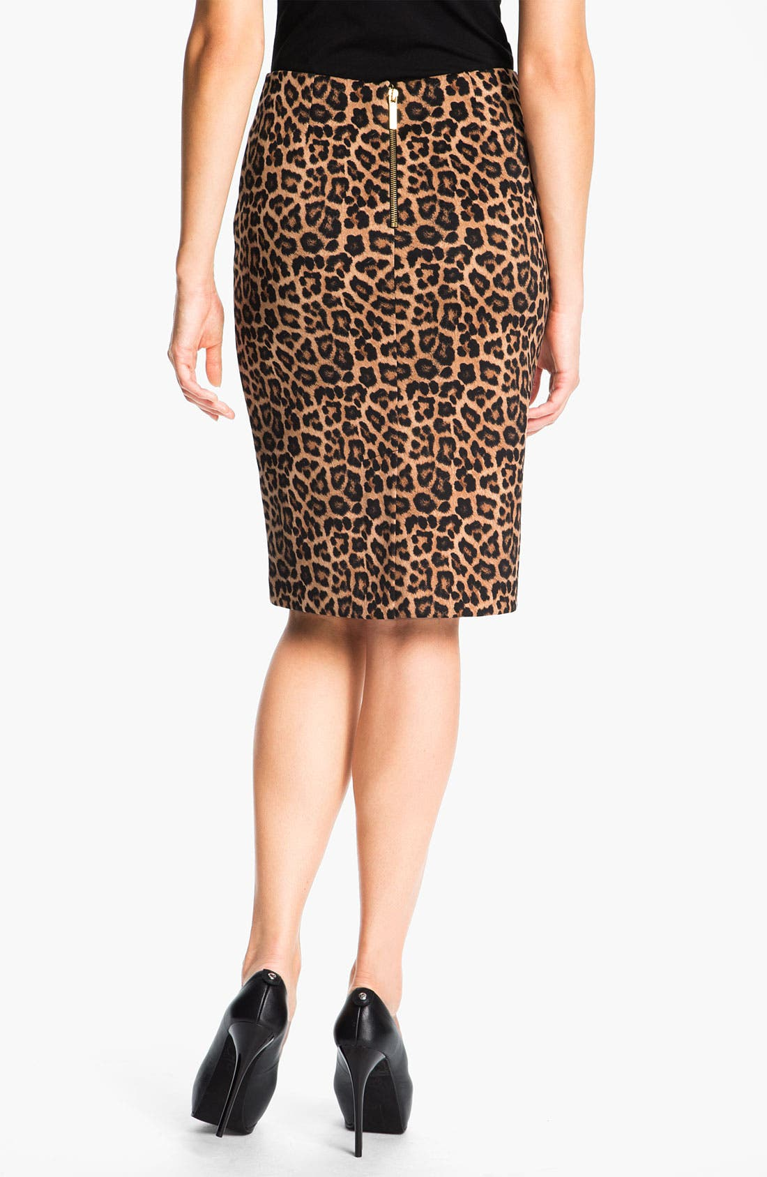 Alternate Image 2  - MICHAEL Michael Kors Jaguar Print Ponte Skirt