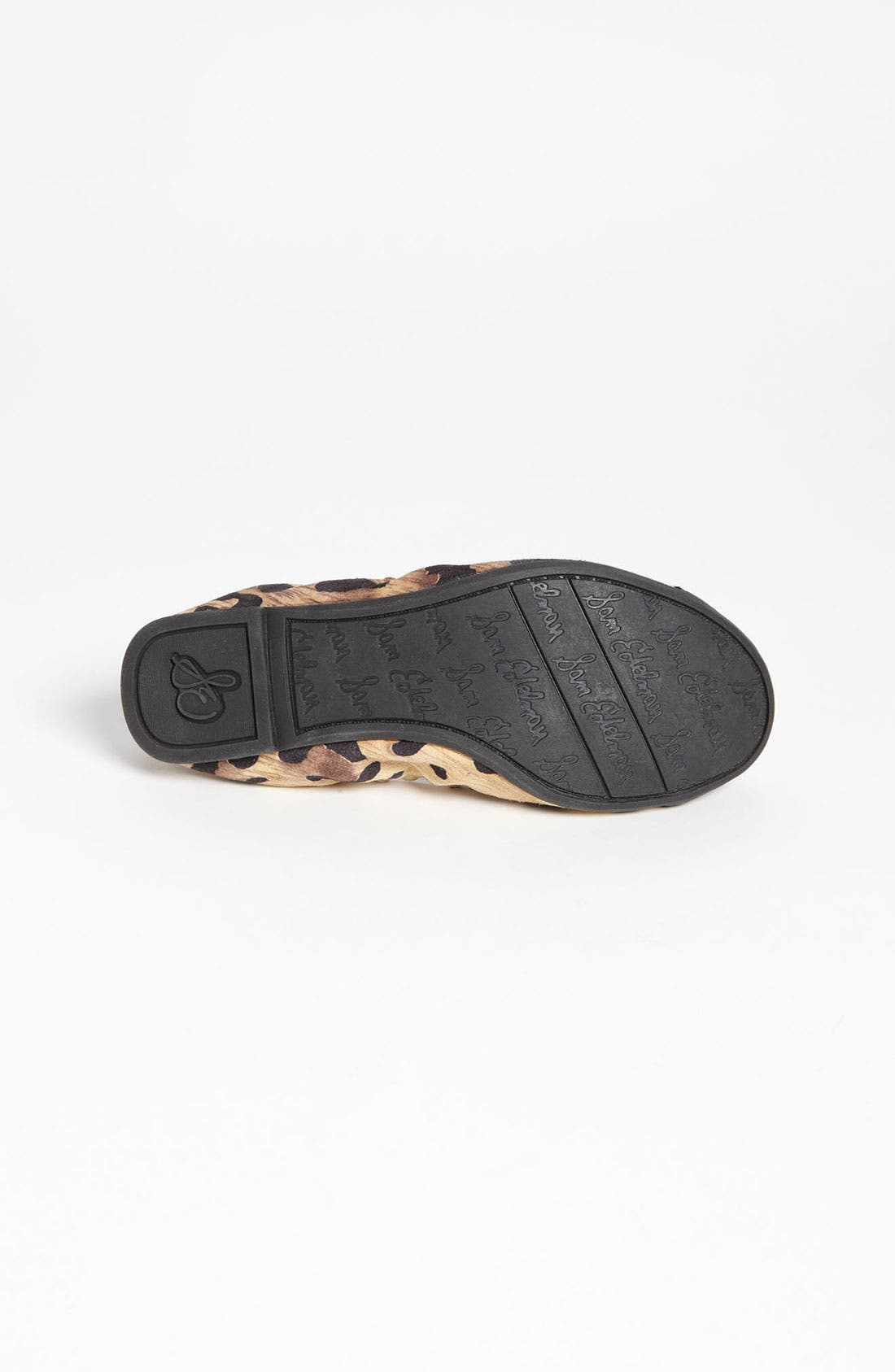 Alternate Image 4  - Sam Edelman Leopard Print Flat (Toddler, Little Kid & Big Kid)