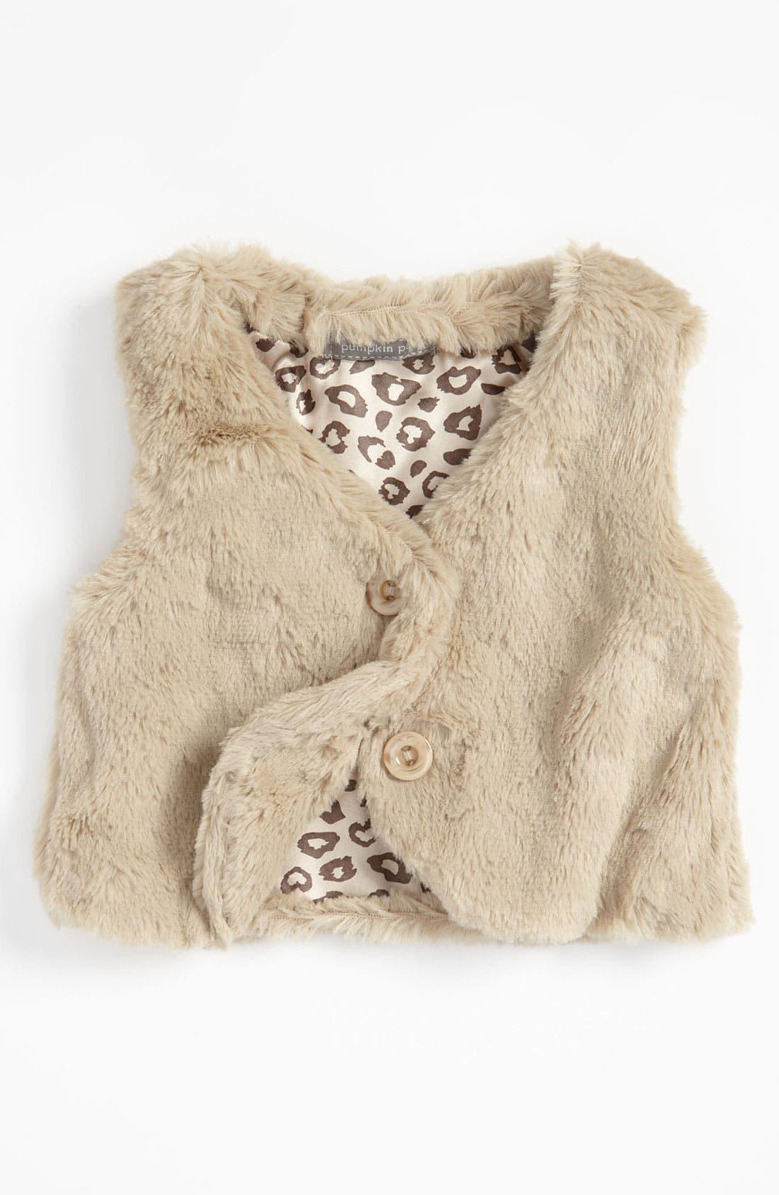Alternate Image 1 Selected - Pumpkin Patch Faux Fur Vest (Toddler)