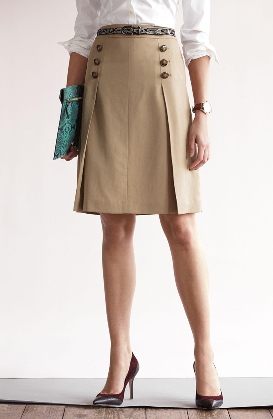 Alternate Image 4  - Halogen® Button Trim A-Line Skirt