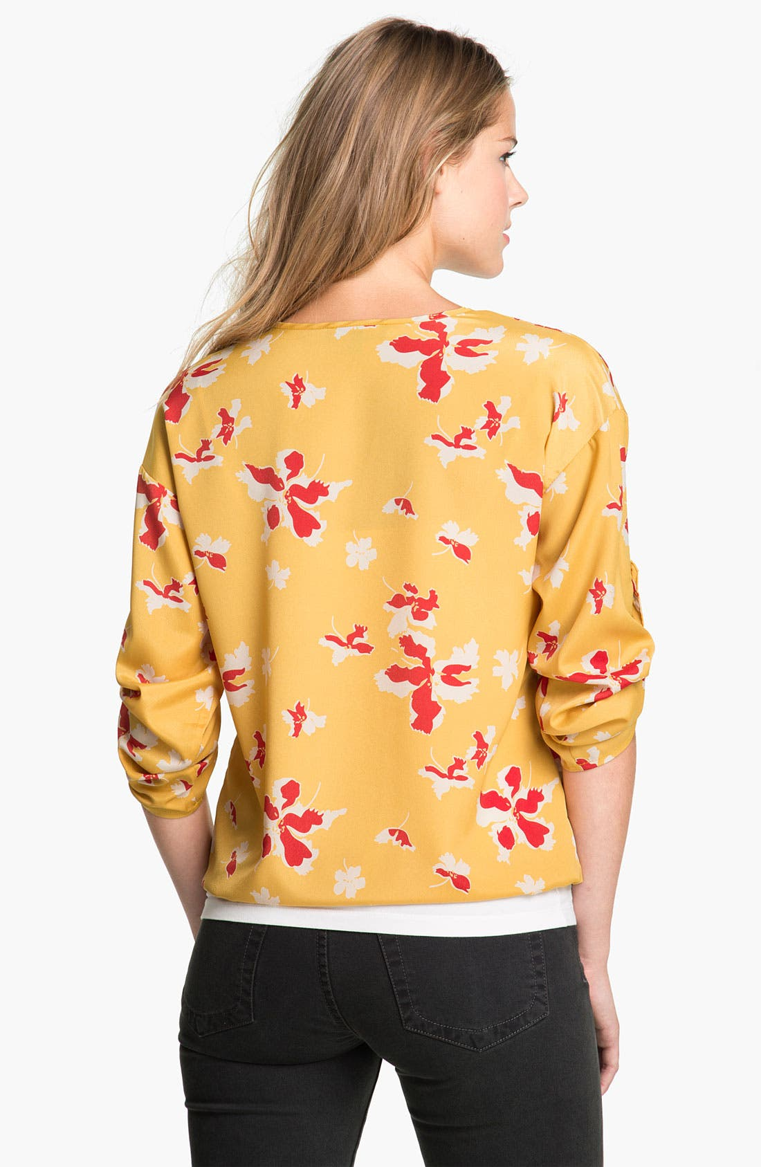 Alternate Image 2  - Éclair Floral Blouse