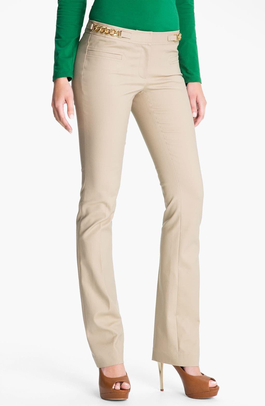 Alternate Image 1 Selected - MICHAEL Michael Kors Chain Trim Pants