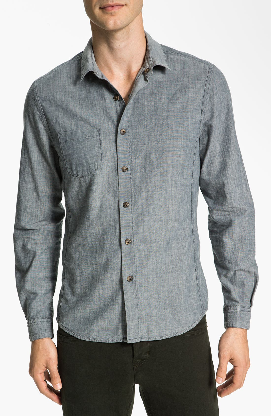 Alternate Image 3  - life/after/denim Reversible Chambray Shirt