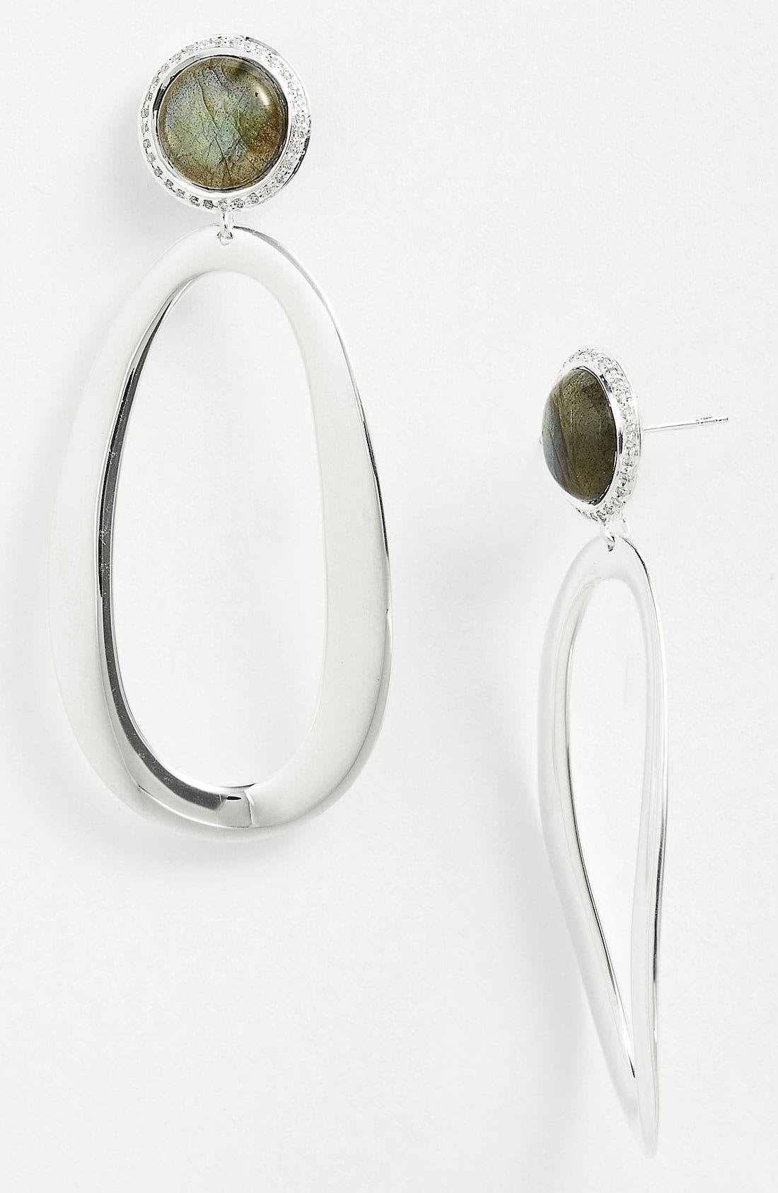 Main Image - Ippolita 'Scultura - Oval Snowman' Statement Earrings