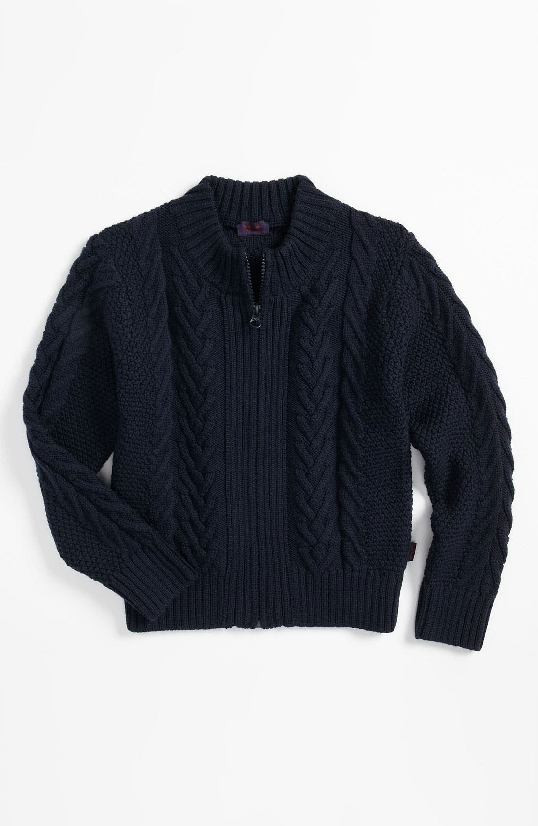 Main Image - Paul Smith Junior Cable Knit Wool Cardigan (Big Boys)