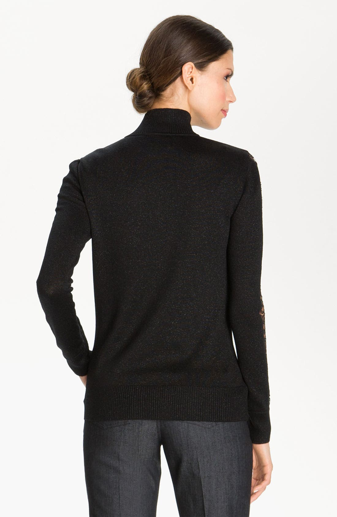 Alternate Image 3  - St. John Collection Lace Trim Milano Knit Jacket