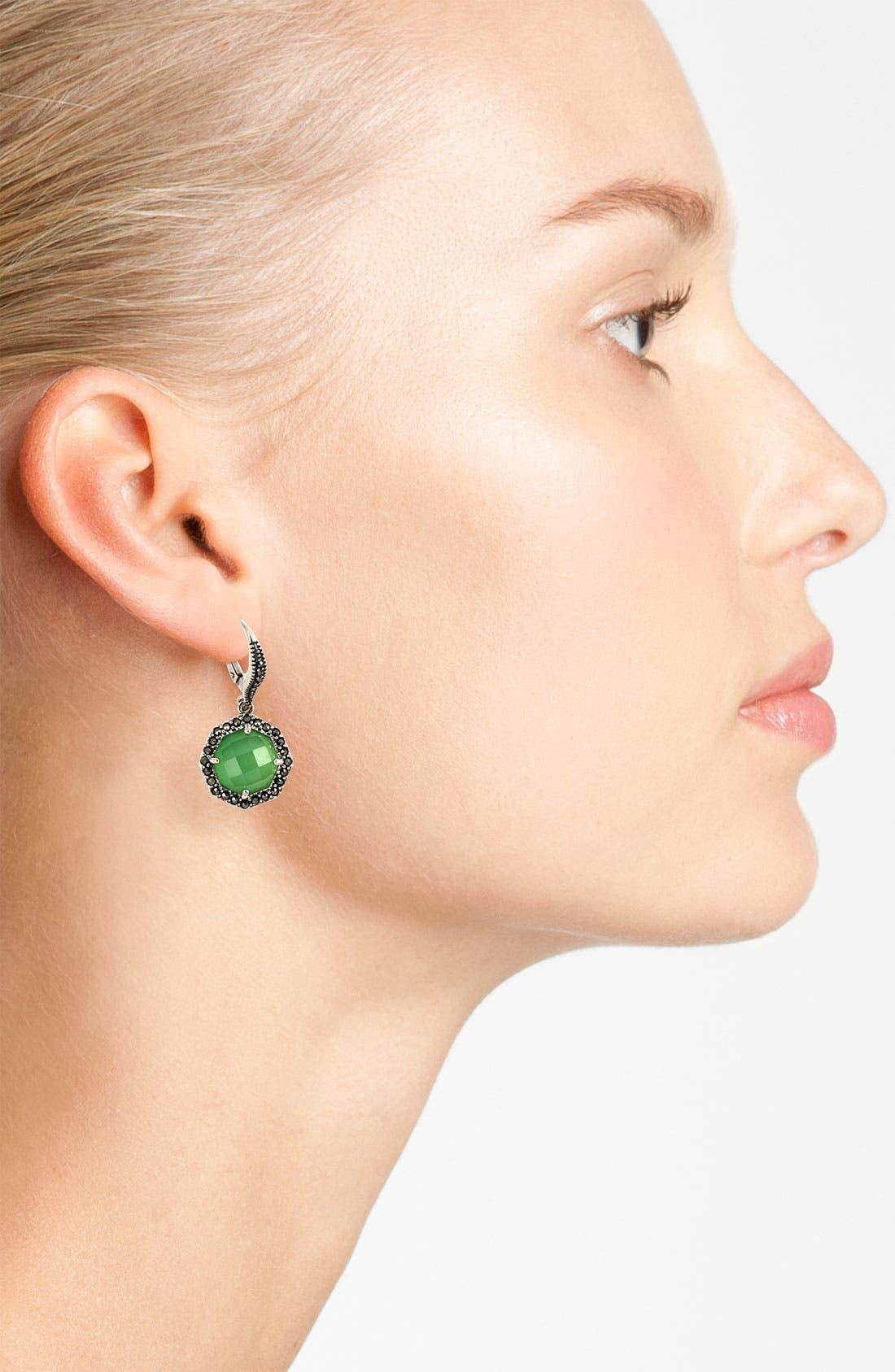 Alternate Image 2  - Judith Jack 'Maldives' Small Stone Drop Earrings