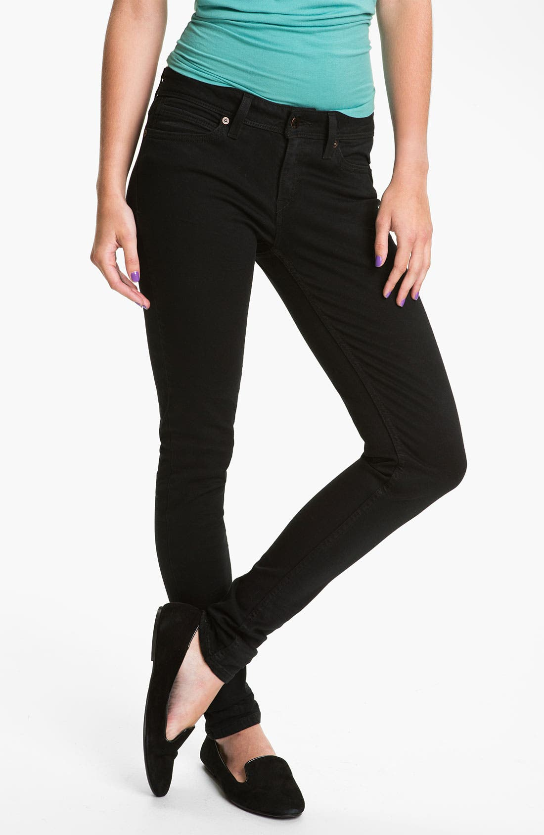 Alternate Image 2  - Levi's® Skinny Jeans (Wax Rinse Sateen)