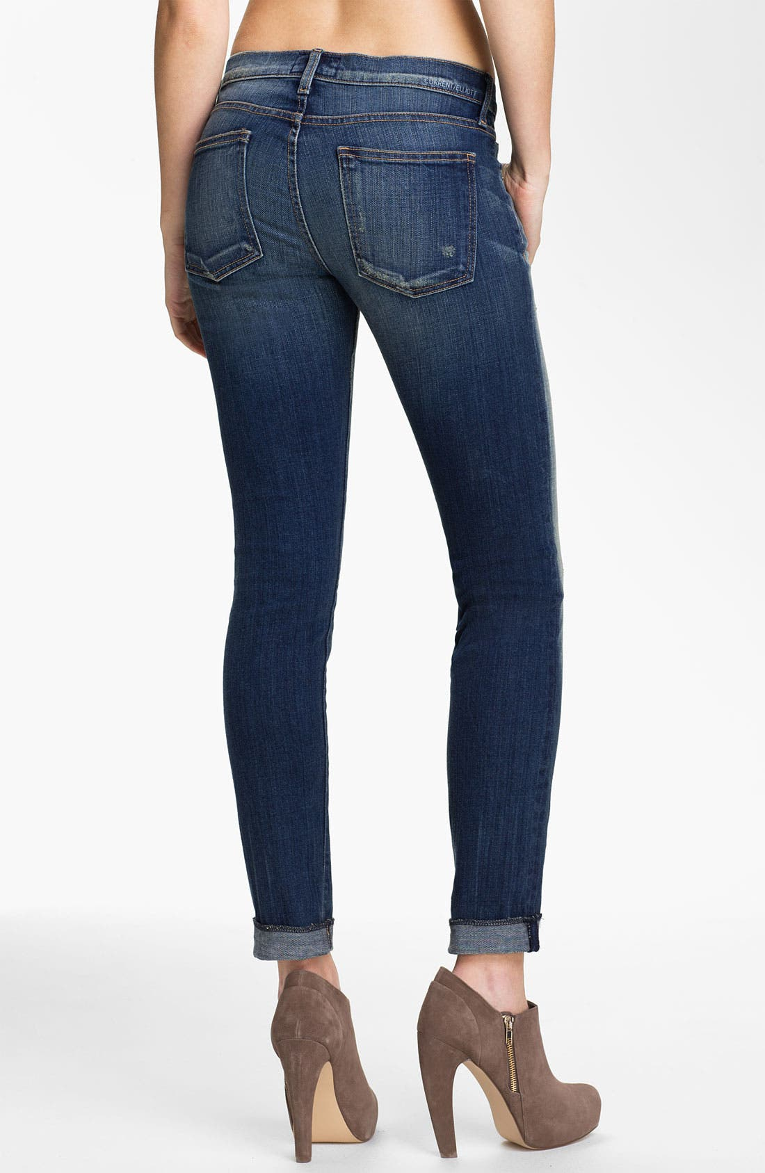 Alternate Image 2  - Current/Elliott 'The Rolled' Stretch Jeans (Wager)