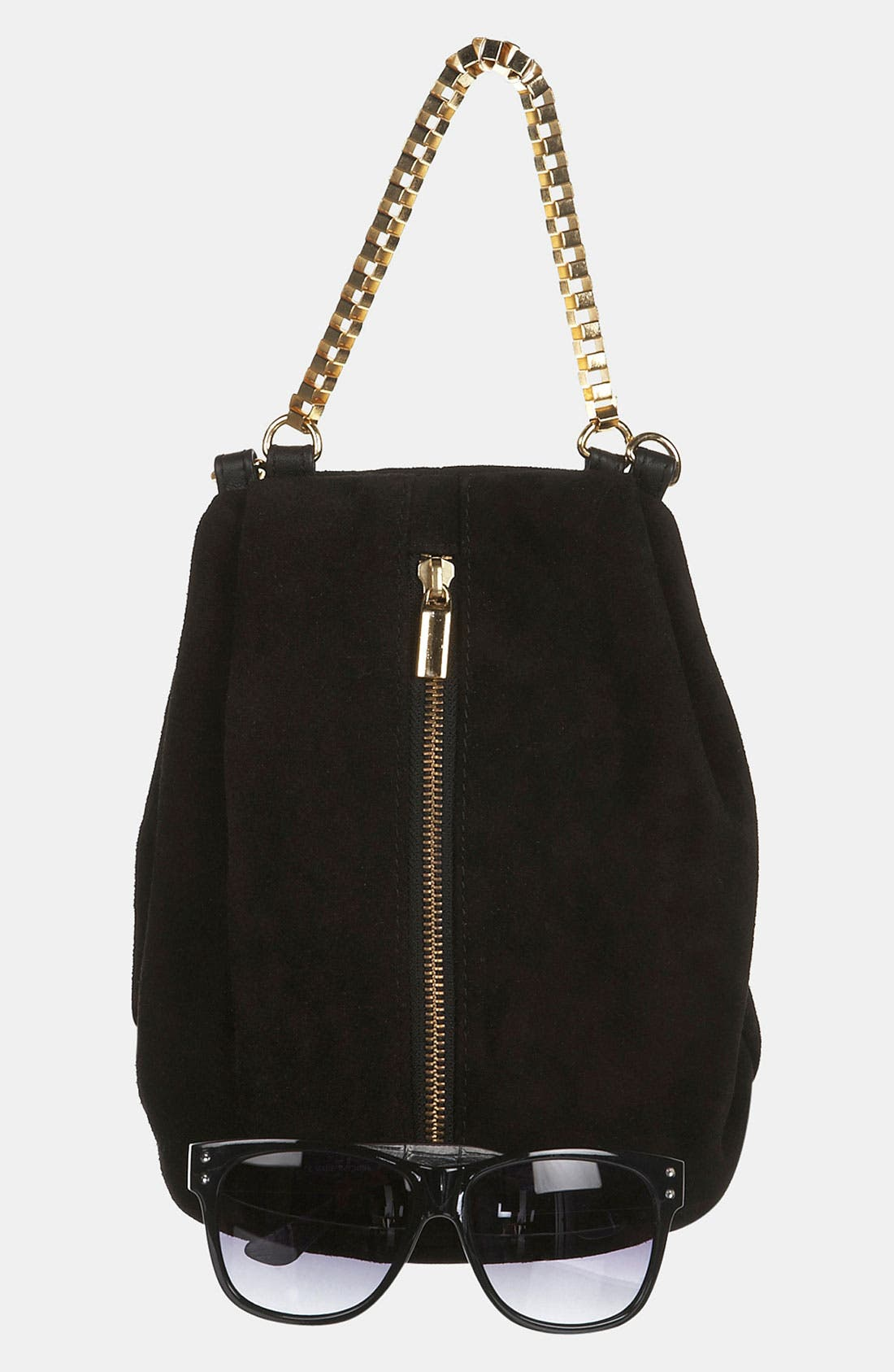 Alternate Image 5  - Topshop Box Chain Suede Bag