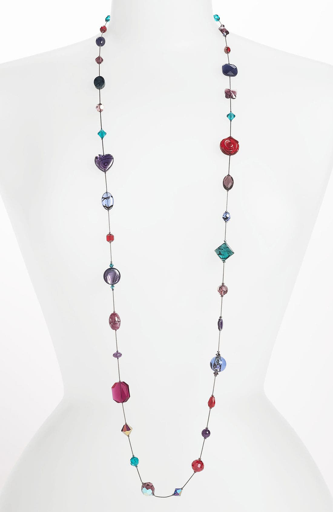 Alternate Image 1 Selected - Dabby Reid Long Strand Semiprecious & Crystal Necklace