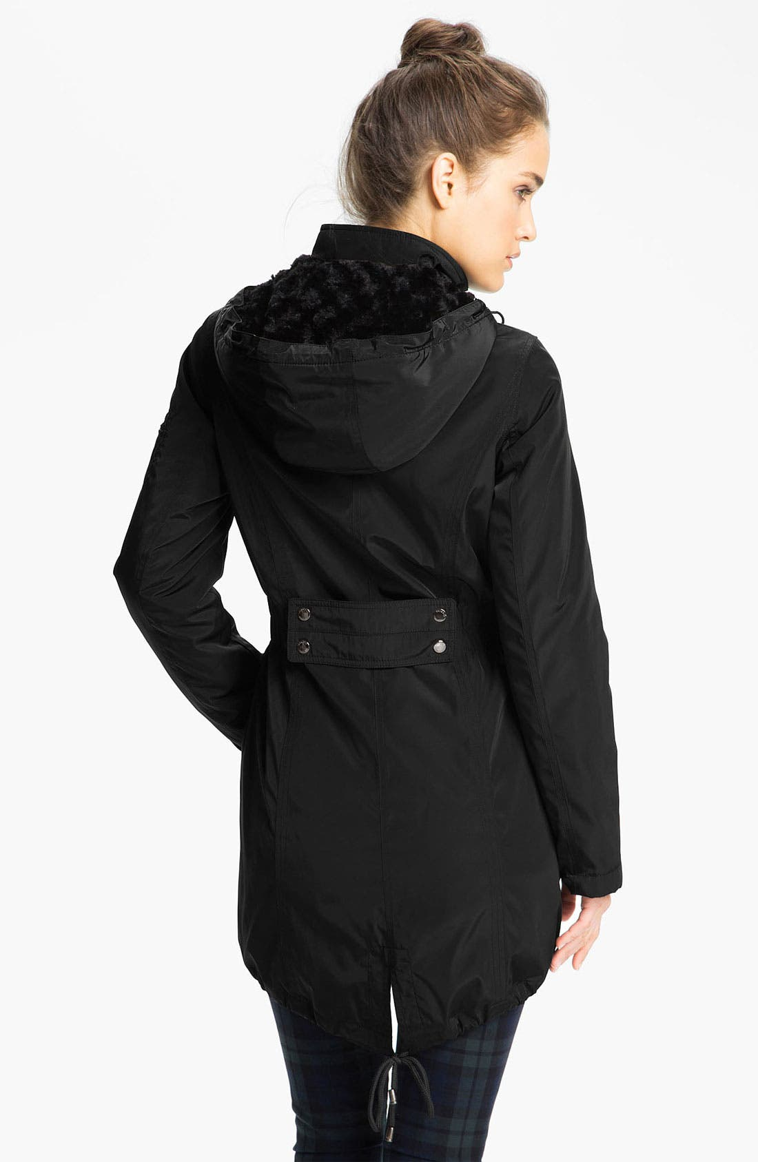 Alternate Image 2  - Laundry by Shelli Segal Anorak with Detachable Faux Fur Liner