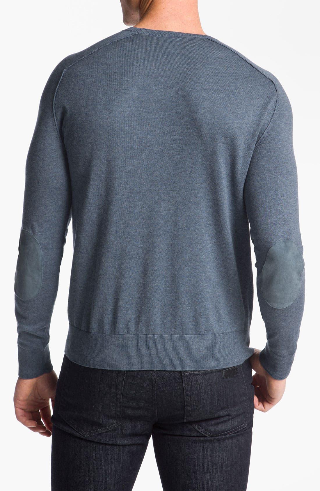 Alternate Image 2  - Lacoste Cotton & Cashmere Crewneck Sweater